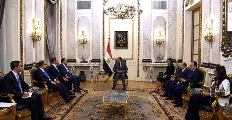 جانب من اجتماعات الوفد اللبناني بمجلس الوزراء المصري
