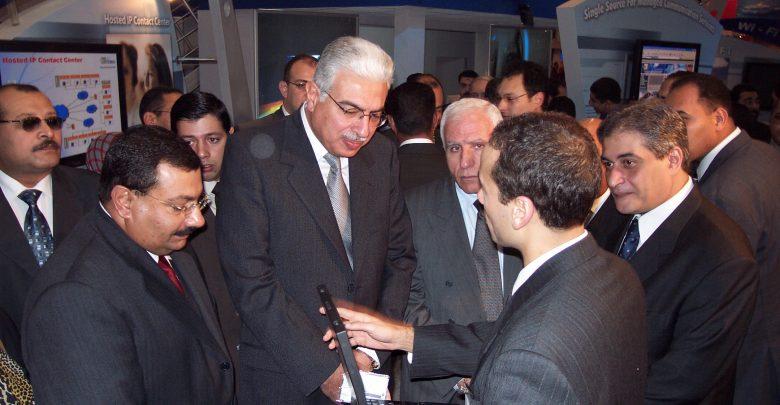اثناء افتتاح معرض كايرو اي سي تي 2004