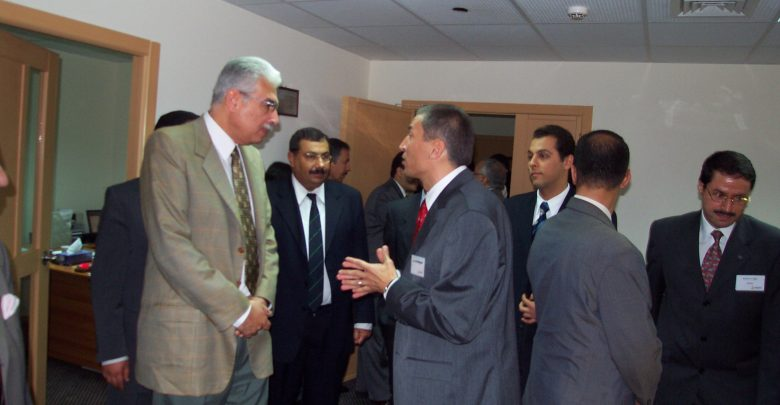 خلال افتتاح مركز القاهرة للدعم الفنى وادارة العمليات لشركة ايكوانت العالمية عام 2004